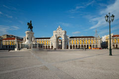 Quadrado do comércio em Lisboa do centro (Portugal) Imagem de Stock Royalty Free