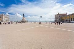 Quadrado do comércio em Lisboa, Portugal Foto de Stock Royalty Free