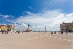 Quadrado do comércio em Lisboa, Portugal Foto de Stock