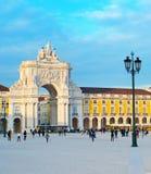 Quadrado do comércio, Lisboa Fotografia de Stock
