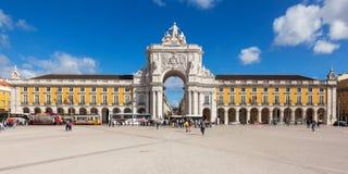 Quadrado do comércio - Praca faça o commercio em Lisboa - Portugal fotografia de stock