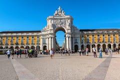 Quadrado do com?rcio em Lisboa, Portugal fotografia de stock