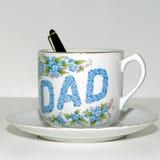 Quadrado do copo de chá do dia de pai Fotos de Stock Royalty Free