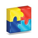 quadrado do enigma 3D Foto de Stock