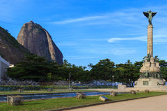 Quadrado do general Tiburcio de Sugarloaf, Rio de janeiro fotografia de stock royalty free