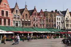 Quadrado do mercado em Bruges Foto de Stock Royalty Free