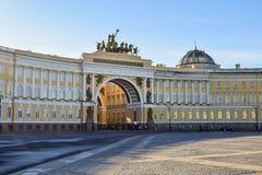 Quadrado do palácio em St Petersburg, Rússia Fotos de Stock