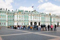 Quadrado do palácio. Eremitério. St Petersburg. Rússia Foto de Stock