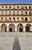 Quadrado do s?culo XVII grande de Corredera, C?rdova, Espanha foto de stock