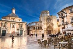 Quadrado do ` s de St Mary em Valência em um dia de verão, o 15 de novembro de 2017 Espanha Fotos de Stock Royalty Free