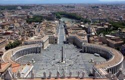 Quadrado do ` s de St Peter, Cidade Estado do Vaticano, Roma Fotos de Stock