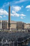 Quadrado do ` s de St Peter do Vaticano Fotografia de Stock Royalty Free