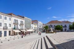 Quadrado do Sa a Dinamarca Bandeira, o quadrado principal da cidade de Santarem Foto de Stock Royalty Free