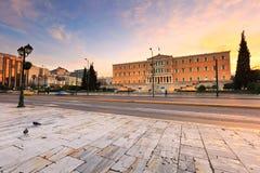 Quadrado do Syntagma, Atenas fotografia de stock royalty free