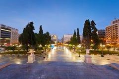 Quadrado do Syntagma, Atenas fotografia de stock