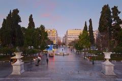 Quadrado do Syntagma, Atenas imagem de stock