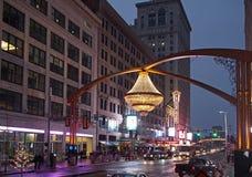Quadrado do teatro, Cleveland imagem de stock