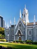 Quadrado do templo de Salt Lake City, Utá fotos de stock