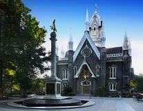Quadrado do templo de Salt Lake City, Utá foto de stock