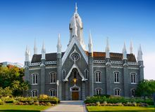 Quadrado do templo de Salt Lake City, Utá imagens de stock royalty free