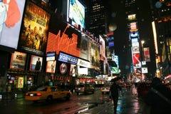 Quadrado do tempo de New York imagens de stock