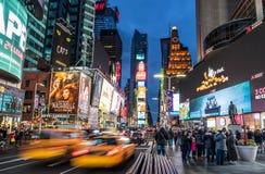 Quadrado do tempo de New York City imagens de stock royalty free