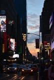 Quadrado do tempo de New York City Fotos de Stock Royalty Free