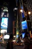Quadrado do tempo na noite fotografia de stock royalty free
