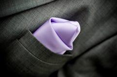 Quadrado do terno e do bolso Fotografia de Stock