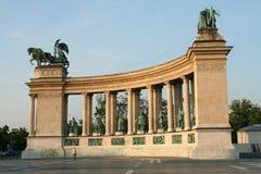 Quadrado dos heróis, Budapest Fotos de Stock