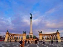Quadrado dos heróis, Budapest Fotografia de Stock Royalty Free