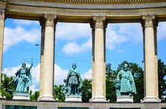 Quadrado dos heróis - Budapest, Hungria fotos de stock