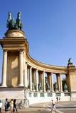 Quadrado dos heróis em Budapest Imagens de Stock Royalty Free
