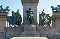 Quadrado dos heróis em Budapest, Hungria Foto de Stock Royalty Free