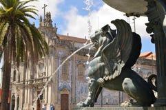 Quadrado dos leões em Porto imagem de stock