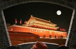 Quadrado dos Tian-Um-homens no Pequim foto de stock royalty free