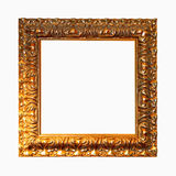 Quadrado dourado do frame Fotografia de Stock Royalty Free