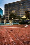 Quadrado e construções de McKeldin em Baltimore do centro, Maryland fotografia de stock royalty free