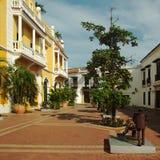 Quadrado em Cartagena, Colômbia Fotografia de Stock
