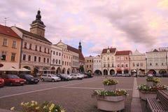 Quadrado em Ceske Budejovice, 2011 fotografia de stock
