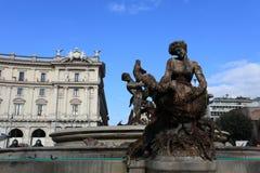 Quadrado em Roma imagem de stock
