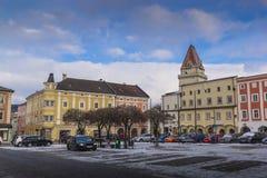Quadrado entral do ¡ de Ð em Freistadt - Upper Austria imagem de stock