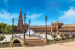 Quadrado espanhol em Sevilha fotografia de stock royalty free