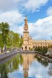 Quadrado espanhol (Plaza de Espana) em Sevilha, a Andaluzia, Espanha, Europa Imagens de Stock Royalty Free