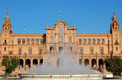 Quadrado espanhol - Sevilha fotos de stock royalty free