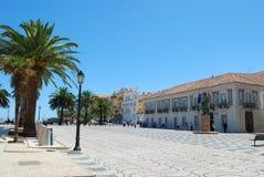 Quadrado famoso em Cascais, Portugal fotografia de stock