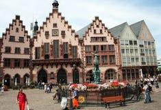 Quadrado Francoforte de Romer Fotografia de Stock Royalty Free