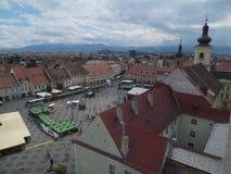 Quadrado grande (Piata Mare), Sibiu Foto de Stock