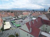 Quadrado grande (Piata Mare), Sibiu Fotografia de Stock Royalty Free