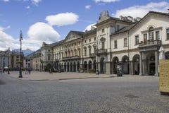 Quadrado histórico de Aosta Fotos de Stock Royalty Free